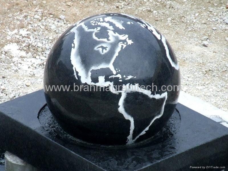 brown stone ball sphere globe,granite globe 5