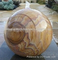 slate stone ball fountain ,Granite water feature,stone water feature 3
