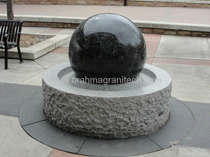 Slate Stone Ball Fountain Granite Water Feature Stone