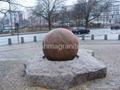 sphere in black granite,ball in stone