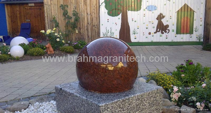 rolling sphere water feature