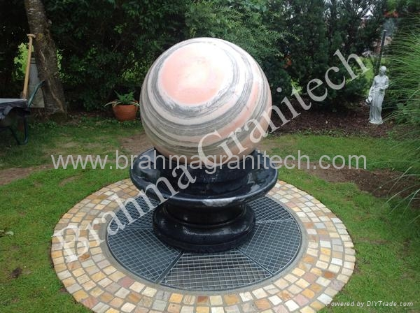 rotating ball water feature