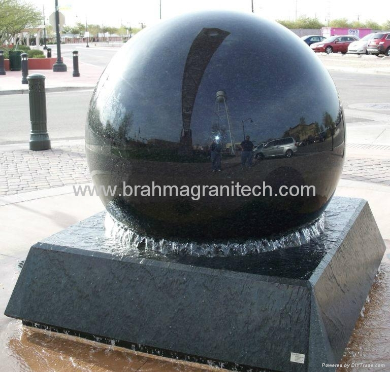 Sphere water fountains and home Garden sphere fountains 2