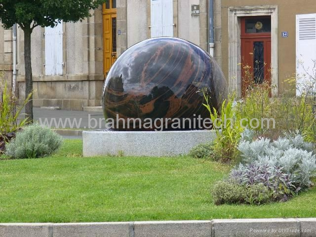 marble ball water feature,garden water feature  4