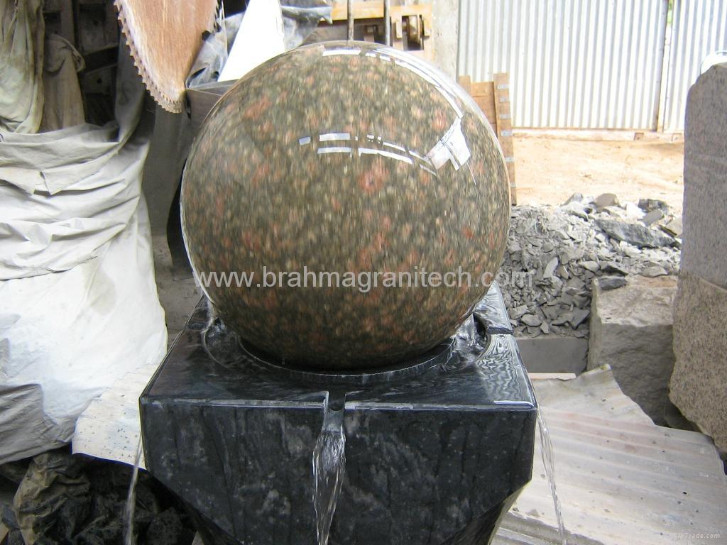 Granite Stone Product : Waterfall ball fountain stone waterfalls sphere