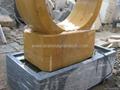 Granite ring fountain,rotating ring