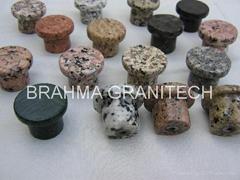 natural granite door knobs