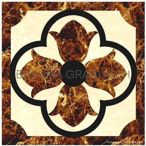 Marble Inlay Borders : Indian stone inlay marble table top medallions
