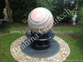 Floating marble stone sphere fountains