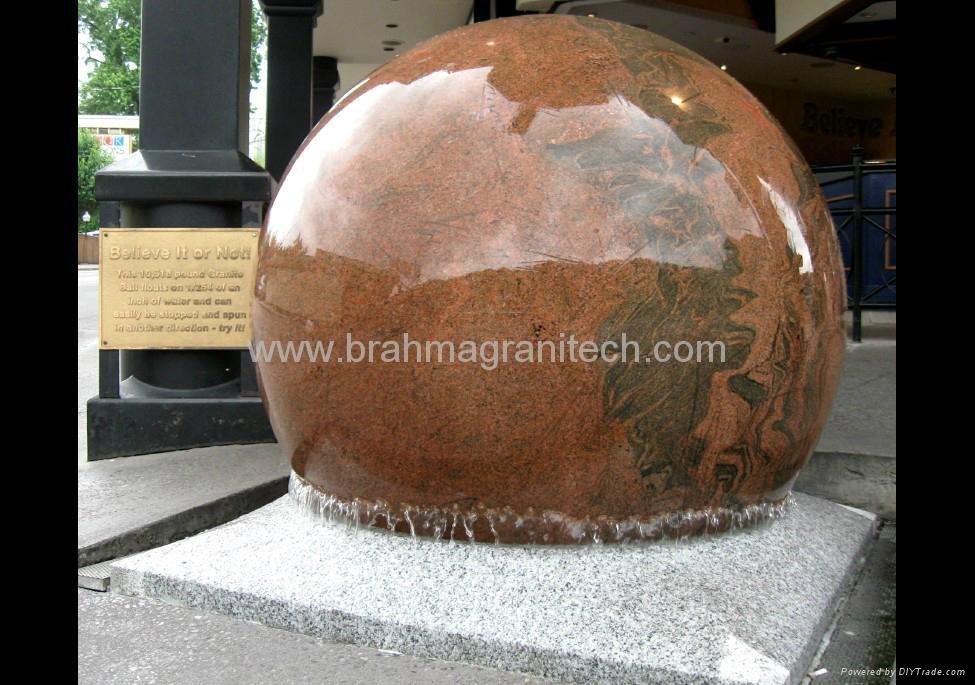 Stone ball fountains 2