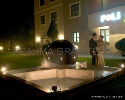 garden ball fountain,spinning ball fountain,water sphere fountain