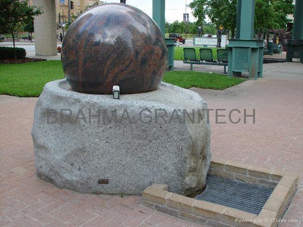garden ball fountain,spinning ball fountain,water sphere fountain