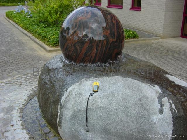 marble ball fountains,green sphere fountain