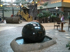 ball water feature prices, landscape sphere fountain, granite kugel ball
