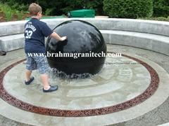 stone fountain globes
