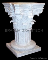 natural stone column,indian marble pillars,sandstone columns