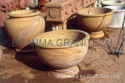 limestone flowerpot,stone flowerpot,granite planter,sandstone flowerpot