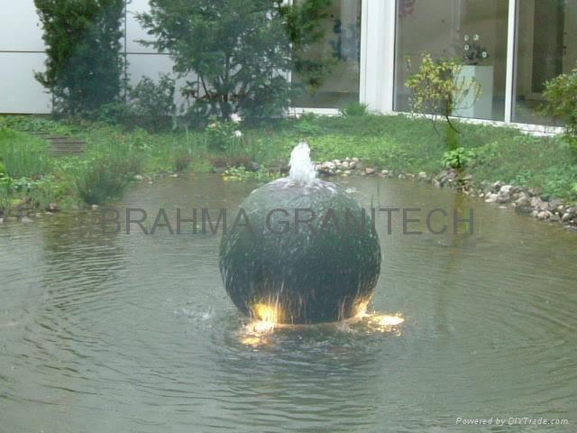 waterfall ball fountain,stone waterfalls sphere fountain 1