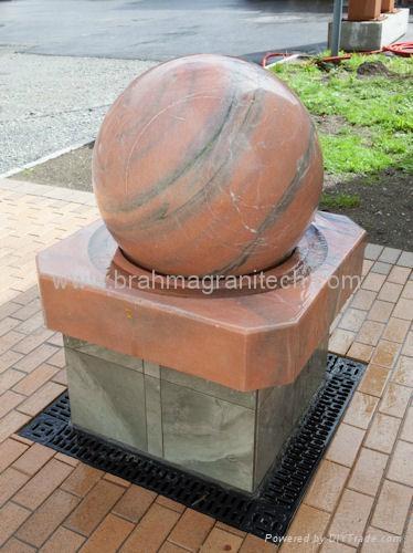 Stone ball fountains 1
