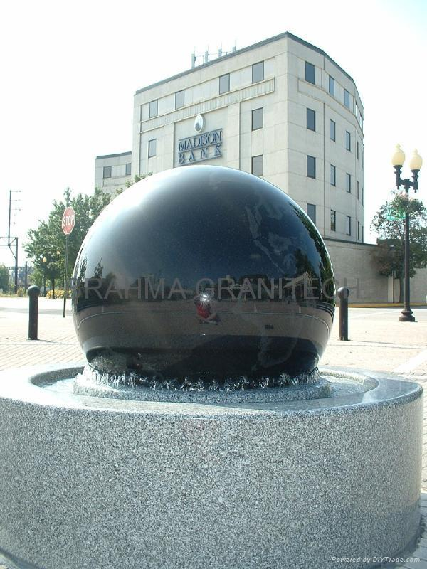 GIANT GRANITE FLOATING SPHERES,LANDSCAPE WATER FEATURE 1