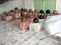 small stone sphere fountains