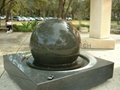 fountain with ball,spinning ball