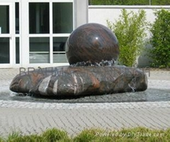 granite spinning ball fountains,floating ball fountains