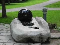Water revolving globe fountain,marble globe fountain