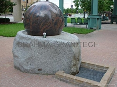 ROTATING GLOBAL FOUNTAIN,FLOATING GRANITE GLOBE