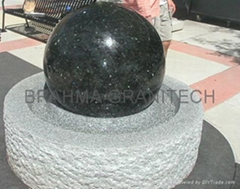 water globe,spinning globe,granite spheres,garden water feature