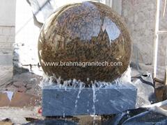 largest kugel ball sphere globe fountain,garden water feature