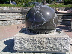 Natural Stone sphere sculpture,Rock ball fountain,fountain balls