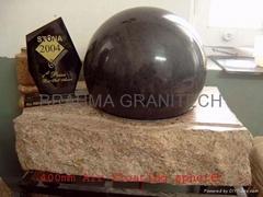 sphere fountain black,stone garden fountain,rock ball,natural ball,green ball,