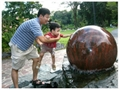 rolling ball water feature