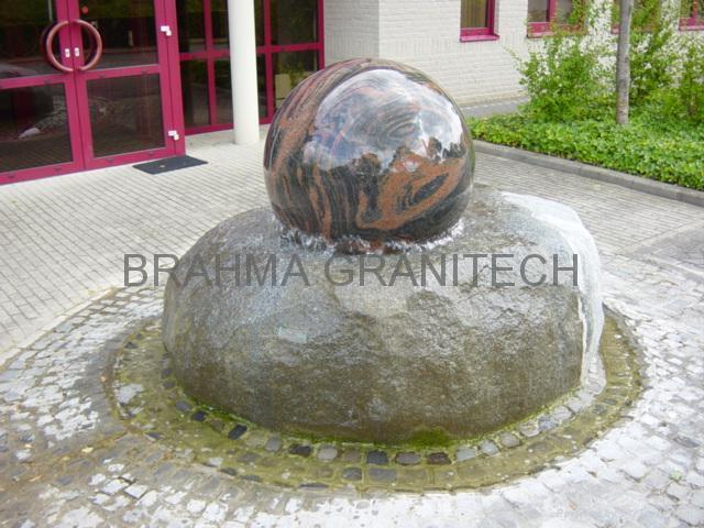 ball fountain,stone ball,sphere water fountain