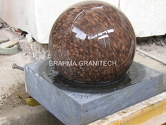 brown stone ball sphere globe,granite globe