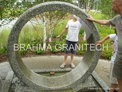 Rotating  wheel Fountain,granite ring,stone ring