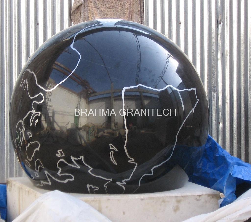 granite fountain balls