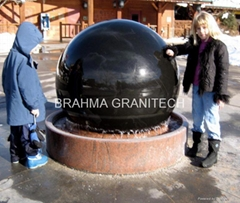 WATER POWERED SPHERE BALLS,GRANITE SPHERES