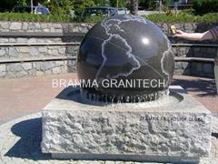 floating rolling spining balls,granite floating balls