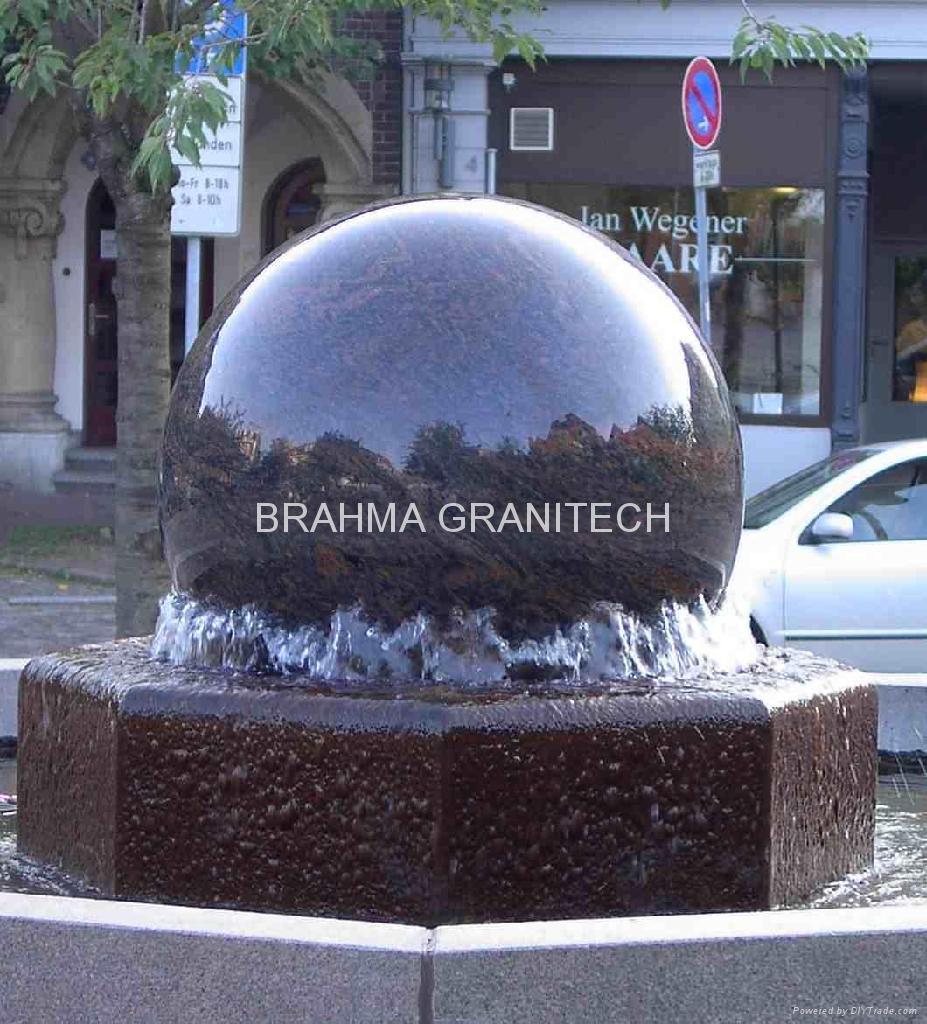 Granite globes,floating stone globe,globe water feature 3