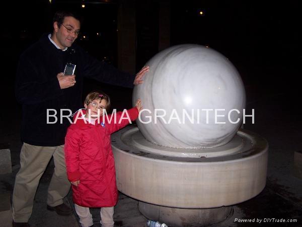 white floating granite spheres,ball fountain 3