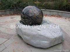 blue pearl sphere fountain ball,granite stone ball fountain