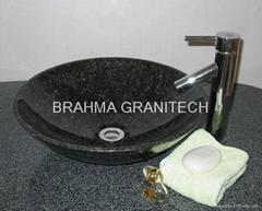 naturalny kamień umywalka, zlew granit, granit umywalka, marmurowa umywalka