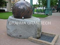 spherical ball fountains,granite globe fountain