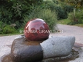 Floating Stone Sphere Fountain,rotating ball fountain 2