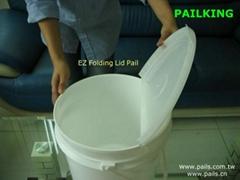 *EZ Folding Lid Detergent  Pails ,buckets, boxes