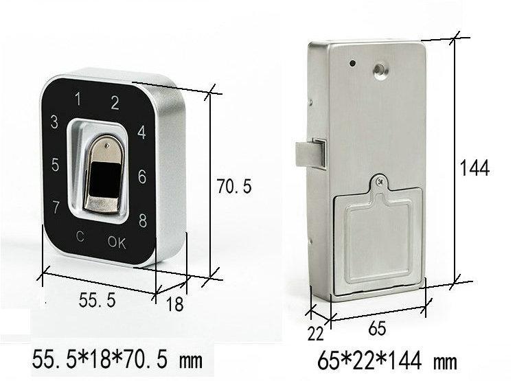 G12A辦公櫃鞋櫃指紋密碼鎖 4