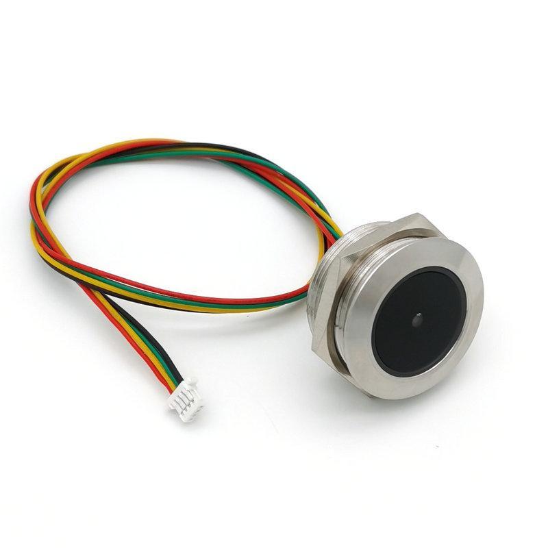 GM60 圆形金属外壳 条码二维码扫描识别模块 螺纹安装识读模组 1