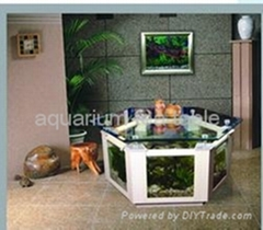 aquarium tea table